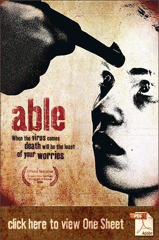 ABLE (2008) PDF One Sheet. Sales Representative: Critical Mass Releasing